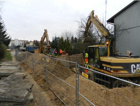 Budowa kanalizacji deszczowej DN1600 w ul. Polnej